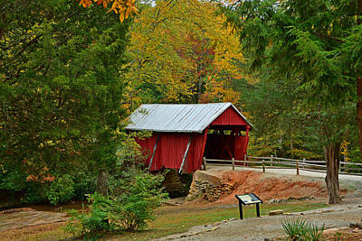 Campbells Covered Bridge Photograph - Campbells Covered Bridge by Ben Prepelka