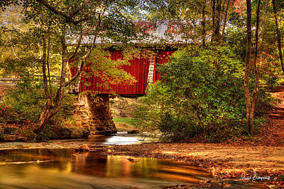 Campbells Covered Bridge Photograph - Campbells Covered Bridge by David Simpson