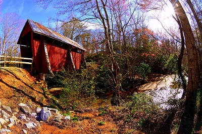 Campbells Covered Bridge Photograph - Campbell's Covered Bridge by Lisa Wooten