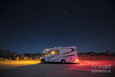 Camper Under A Night Sky Print by Juli Scalzi