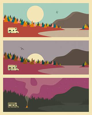 Camping Digital Art - Campfire by Jazzberry Blue
