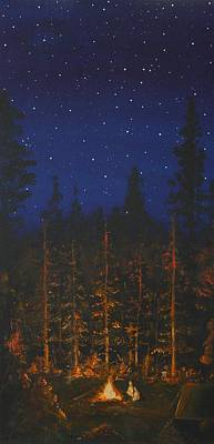 Camping In The Nothwest Print by Jennifer Lynch