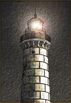 Cana Island Lighthouse Re Imagined Photograph By David T