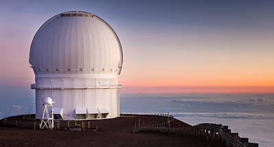 Canada-france-hawaii Telescope Print by Thorsten Scheuermann