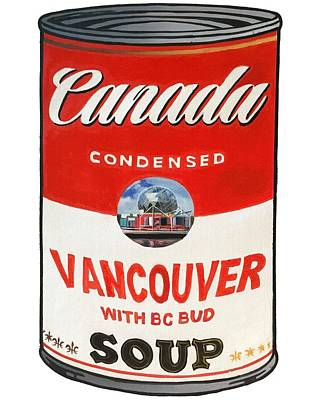 Canada Soup Cans, Vancouver Original by Warren Chiu