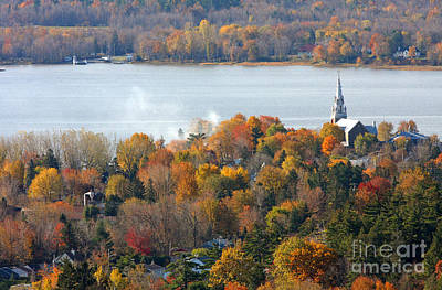 St. Laurent Photograph - Canadian Autumn by Mircea Costina Photography