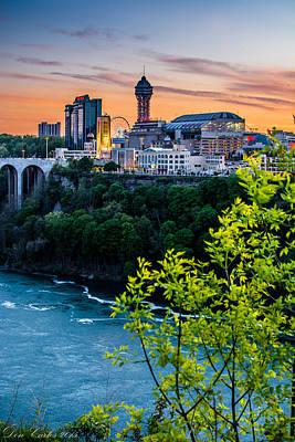 Carlos Ruiz Painting - Canadian Falls Skyline by Carlos Ruiz
