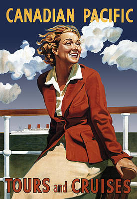 World Tour Digital Art - Canadian Pacific Cruise Vintage Travel 1936 by Daniel Hagerman
