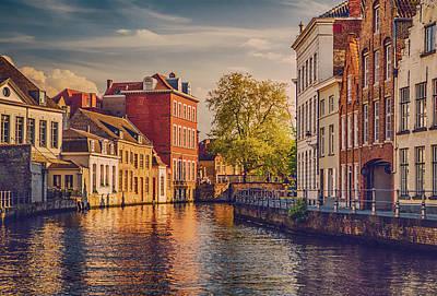 Bruges Photograph - Canal In Bruges by Wim Lanclus