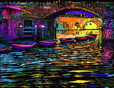 Canal In Utrecht, Netherlands Print by DC Langer