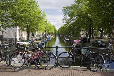 Canal Of Amsterdam Print by Joshua Francia