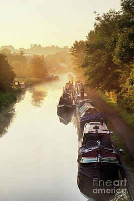 Canal Sunrise Print by Tim Gainey