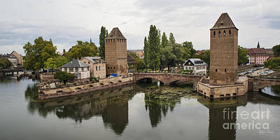 Vineyards Of Alsace Photograph - Canals And Medieval Towers Of Strasbourg by Yefim Bam