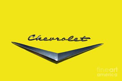 Photograph - Canary Yellow Chevrolet  by Andrea Kollo