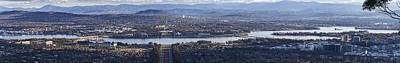 Canberra Panorama From Mt Ainslie Print by Steven Ralser