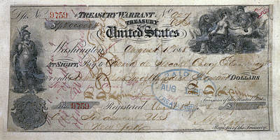 Canceled Check For Alaska Purchase  1868 Print by Daniel Hagerman