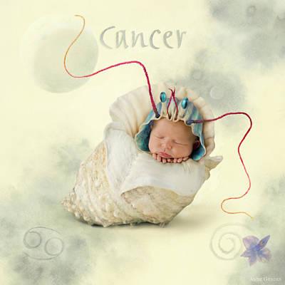 Zodiac Photograph - Cancer by Anne Geddes