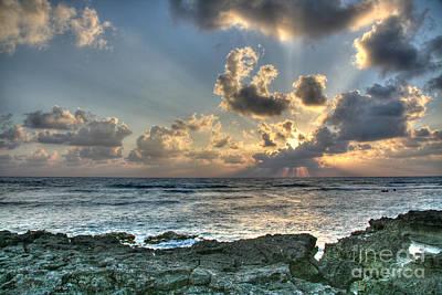 Cancun Sunrise A Morning In Heaven Print by Wayne Moran