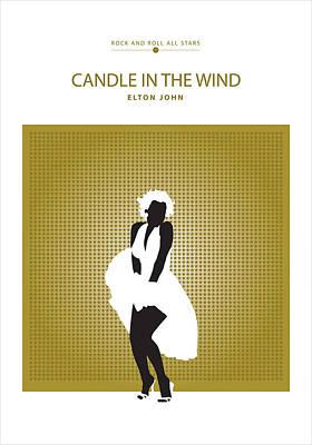 Elton John Drawing - Candle In The Wind -- Elton John by David Davies