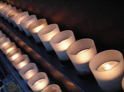 Photograph - Candle Line by Anne