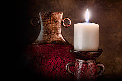 Vase Photograph - Candle by Tom Mc Nemar
