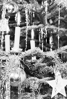 Eve Photograph - Candles On A Christmas Tree by German School