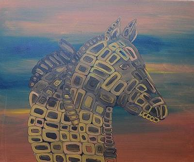 Candy Painting - Candy Angel Horse # 3 by Mirek Bialy