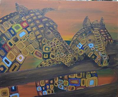 Horse Painting - Candy Angel Horse # 4 by Mirek Bialy