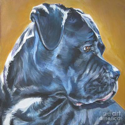 L.a.shepard Painting - Cane Corso by Lee Ann Shepard