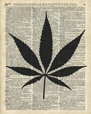 Cannabis Plant Stencil Print by Jacob Kuch