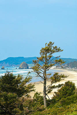 Cannon Beach From The Distance Print by David Patterson