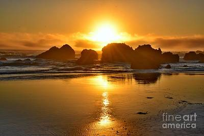 Reflections Photograph - Cannon Beach Sunset by Scott Cameron