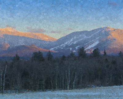 Franconia Notch Painting - Cannon Mountain Vista by Bill McEntee