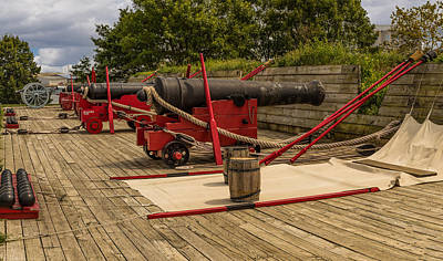 War Of 1812 Mixed Media - Cannons Of Ft Mchenry by Capt Gerry Hare
