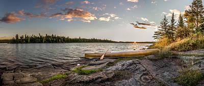 Canoe // Bwca, Minnesota  Print by Nicholas Parker