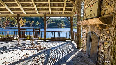 Rocking Chairs Photograph - Canoe Club by Walt  Baker