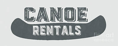 Canoe Rentals Sign Print by Edward Fielding