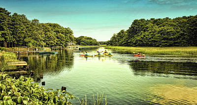 Waterview Photograph - Canoeing by Gina Cormier