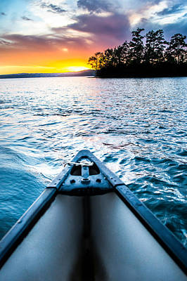 Lake Martin Photograph - Canoeing In Paradise by Parker Cunningham