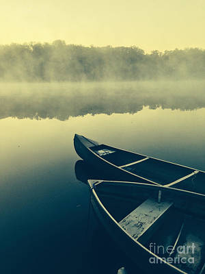 Canoe Photograph - Canoes On Lake by Pd