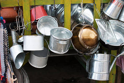 Cans And Pans Print by Totto Ponce