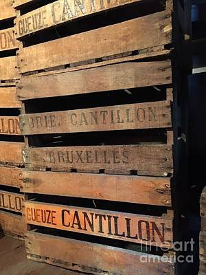 Breweries Photograph - Cantillon Crates by Evan N