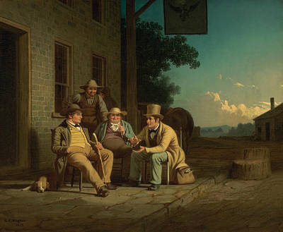 Voted Painting - Canvassing For A Vote by George Caleb Bingham