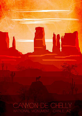 Abstract Landscape Painting - Canyon De Chelly National Monument 10 - By Diana Van by Diana Van