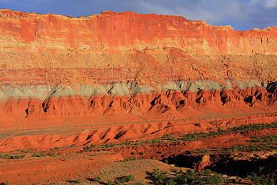 Rimrock Photograph - Canyon Layers, Capitol Reef State Park, Utah by Aidan Moran