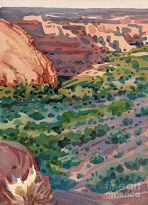 Canyon Shadows Print by Donald Maier