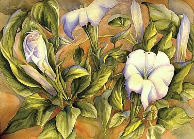 Datura Painting - Canyon Suprize by Gail M Austin