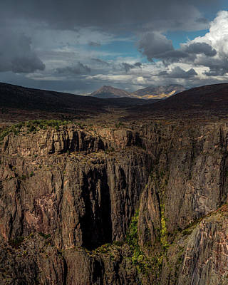 The Plateaus Photograph - Canyon Wall by Joseph Smith
