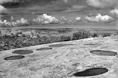 Clouds Photograph - Canyonlands Puddles by Marilyn Hunt