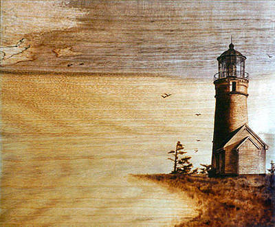 Pyrography - Cape Blanco by Dino Muradian
